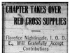 """Chapter Takes Over Red Cross Supplies"""