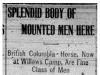 """""""Splendid Body of Mounted Men Here"""""""