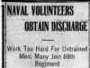 """Naval Volunteers Obtain Discharge"""