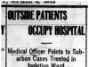 """Outside Patients Occupy Hospital"""