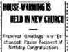"""House-Warming is Held in New Church"""