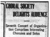 """Choral Society Delights Audience"""
