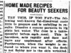 """Home Made Recipes for Beauty Seekers"""