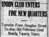 """Union Club Enters Fine New Quarters"""