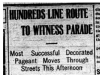 """Hundreds Line Route to Witness Parade"""
