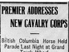 """Premier Addresses New Cavalry Corps"""