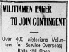 """Militiamen Eager to Join Contingent"""