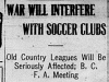 """War Will Interfere With Soccer Clubs"""