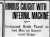 """Hindus Caught With Infernal Machine."""