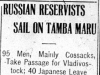 """Russian Reservists Sail on Tamba Maru."""