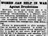 """Women Can Help in War - Against Drunkenness"""
