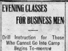 """Evening Classes for Business Men"""