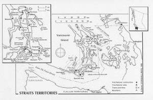 A map showing Straits Salish traditional territories.