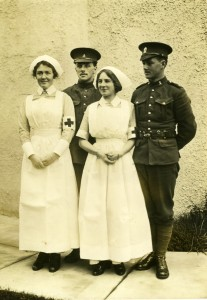 Two nurses from Oak Bay in their field uniforms. Photograph courtesy of Jean Sparks, Private Collection.