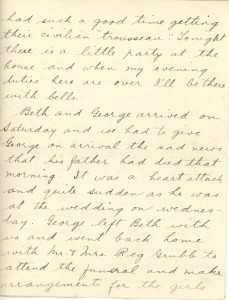Letter from Gertrude Scott to her brother Matt Scott, 31 Jan 1918. Discusses their brother's homecoming and readjusting to civilian life. Source: Image Courtesy of Megan Scott, personal collection Date: 31 Jan 1918