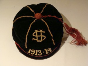 University School Honours Cap, 1913-1914. Courtesy of St. Michaels University School Archives.