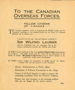 Laurier Poster 1917