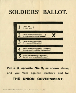 Soldiers Ballot 1917