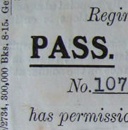 Pass for W. C. Warren