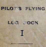 R.H.B. Ker's Flying Log Book