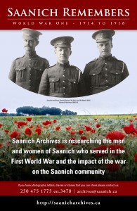 Saanich-Remembers-WWI-poste